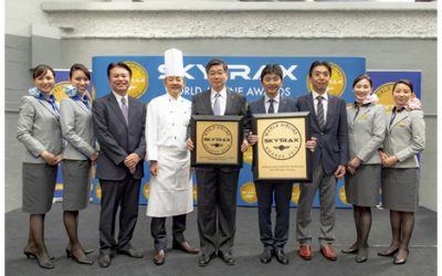 "ANA awarded ""World's Best Airport Services"" and ""Best Business Class Onboard Catering."
