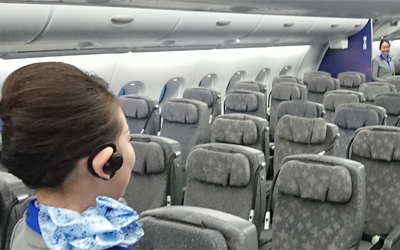 ANA to Streamline Flight Attendant Communication Using Hearable Device
