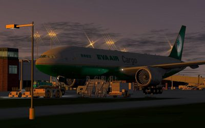EVA Air took delivery of its first Boeing 777 freighter