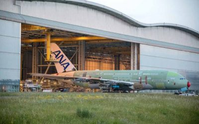 First ANA Airbus A380 Rolls out of Assembly Hall