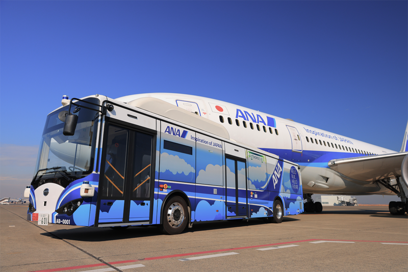 ANA Becomes First Airline in Japan to Use Autonomous Bus to Transport Employees