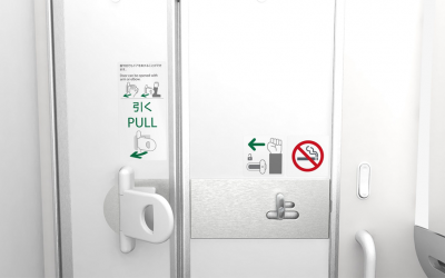 ANA to Install World's First Hands-free Lavatory Doors on 21 Aircrafts